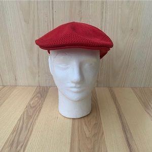 red kangol hat